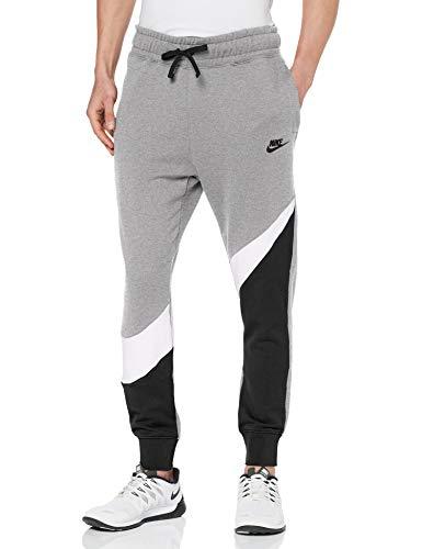 Nike Herren M NSW HBR FT STMT Pants, Black/White/Dk Grey Heather/Bl, S