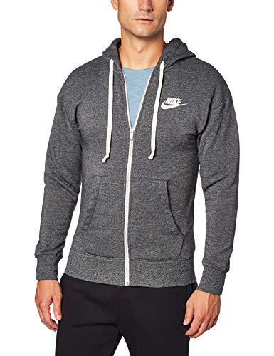 Nike Herren M NSW Heritage FZ Sweatshirt, Black/Heather/Sail, S