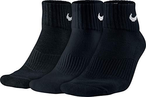 Nike Herren Strümpfe Cushion Quarter, 3er Pack - Schwarz (Black/White), 42-46 EU