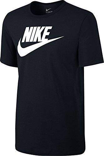 Nike Herren Tee-Futura Icon T-Shirt, Schwarz, L