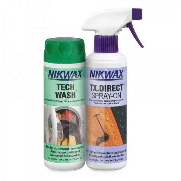 Nikwax - Tech Wash + TX Direct Spray - Waschmittel Gr 2 x 300 ml