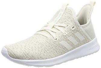 adidas Damen Cloudfoam Pure Laufschuhe, Weiß Cloud White/Ice Mint, 40 EU