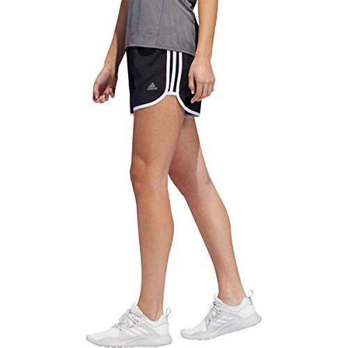 adidas Damen Marathon 20 Shorts, Black/White, M 3