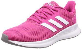 adidas Damen RUNFALCON Laufschuhe, Rot (Real Magenta/Footwear White/Grey 0), 40 EU
