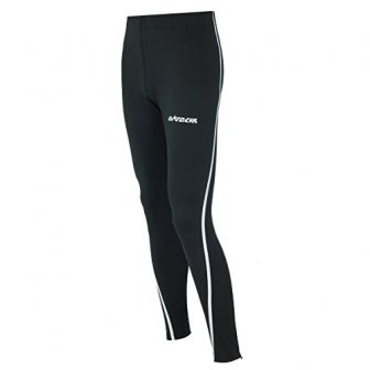 Airtracks Thermo FUNKTIONS Laufhose AIR TECH/Running Tight/Thermohose/Reflektoren - LANG - schwarz-Silber -...