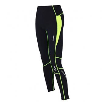Airtracks Thermo FUNKTIONS Laufhose PRO-T/Running Tight/Thermohose/Reflektoren - LANG - schwarz-neon - XL