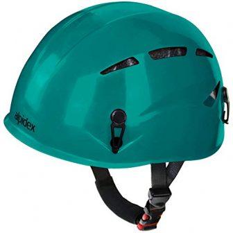 ALPIDEX Universal Kletterhelm Argali Klettersteighelm in Vielen Modernen Farben, Farbe:Turquoise Green