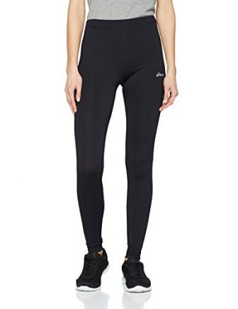 ASICS Damen Funnelneck Leggings, Black, L