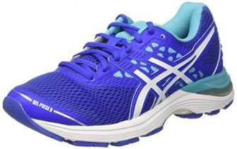 ASICS Damen Gel-Pulse 9 Laufschuhe, Blau (Blue Purple/White/Aquarium), 39.5 EU