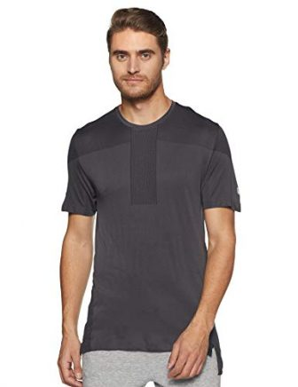 ASICS Herren Gel-Cool Seamless Kurzarmshirt, Dark Grey, L