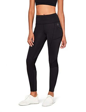 AURIQUE Thermal Running Sport Leggings, Schwarz (Black), 42 (Herstellergröße: X-Large)