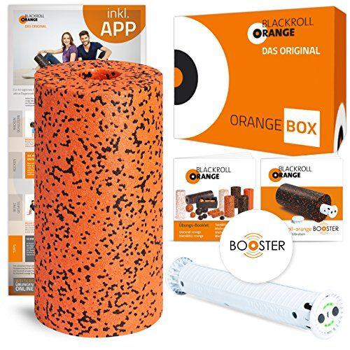 blackroll-orange Booster-Set PRO inkl. Faszienrolle Pro, Booster Booklet, Übungs-Booklet zur Faszienmassage mit Vibration und optionale kostenlose App