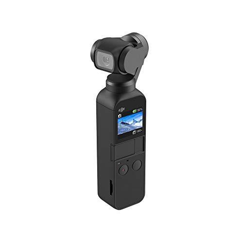 DJI Osmo Pocket 3-Achsen Gimbal Stabilisator Stabilizer mit integrierter Kamera, Verwendbar mit Smartphone, Android (USB-C), iPhone