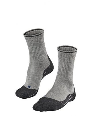 FALKE Damen Wandersocken TK2 Wool Silk, Schurwollmischung, 1 Paar, Grau (Light Grey...
