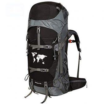 HBAOT Backpacker Rucksackk Militär Reise Sport Trekkingrucksack Camping Radfahren wasserdichte Ultraleicht Mit...