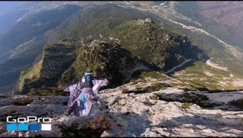 Video: Ein Wingsuite Flug über die italienischen Dolomiten