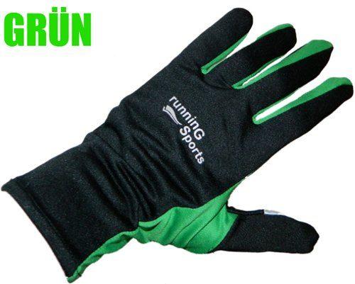 Laufhandschuhe Nordic Walking Handschuhe running gloves M L XL Jogging Gr. 8 - 9,5 (Grün, 9)