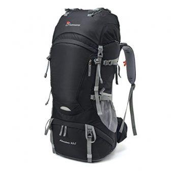 MOUNTAINTOP 55L/65+5L Backpacker Rucksack Wanderrucksäcke für Camping, Wandern, Bergsteigen, Reisen mit Regenhülle