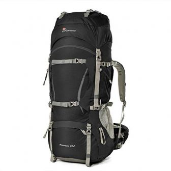 MOUNTAINTOP 70+10Liter/80L Backpacker Rucksack