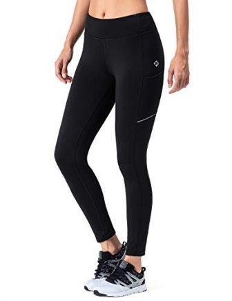 NAVISKIN Damen Laufhose Warm Lang Leggings Atmungsaktiv Trainingshose Thermo - Lauftight Winter...