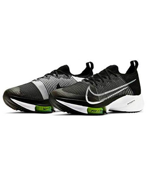 Nike Herren AIR Zoom Tempo Next% FK Laufschuh, Black/White-Volt, 45 EU