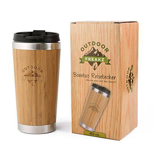 OUTDOOR FREAKZ Thermobecher aus Bambus und Edelstahl ♻ ein Naturprodukt!