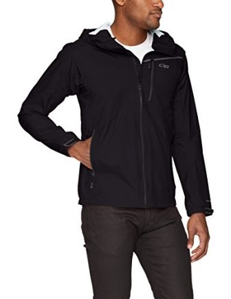 Outdoor Research Men's Interstellar Jacket, Black/Charcoal, Medium