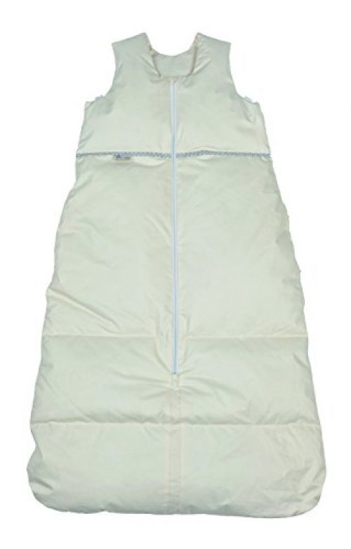 Premium Daunenschlafsack Baby, längenverstellbar, Alterskl. ca 12-24 Monate, creme, 110 cm