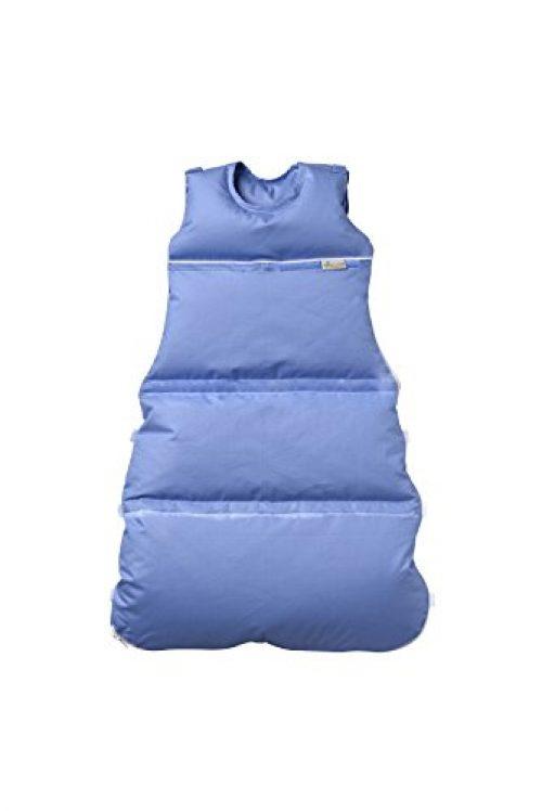 Premium Daunenschlafsack Baby, längenverstellbar, Alterskl. ca 3-20 Monate, azur, 80 cm