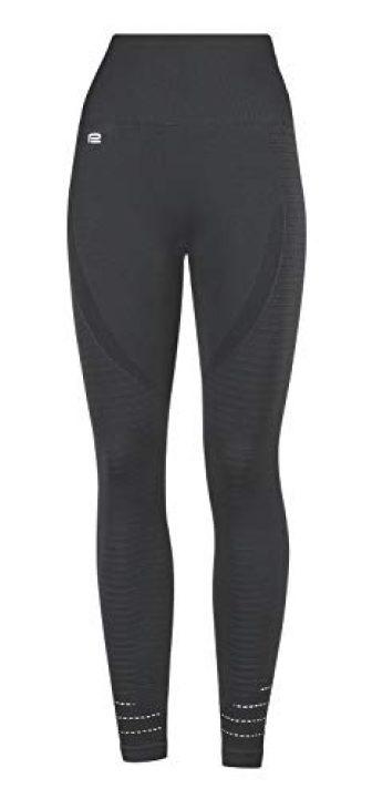 Prosske Damen Sport Leggings High Waist DLL1 Laufhose Fitnesshose Sporthose Atmungsaktiv -...
