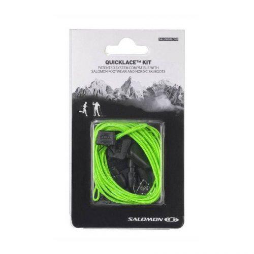 salomon Quicklaces Kit Natural grün