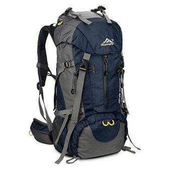 SKYSPER Backpacker Rucksack 50L Trekkingrucksäcke Wasserdicht Reiserucksack Camping Outdoor Wandern Rucksack