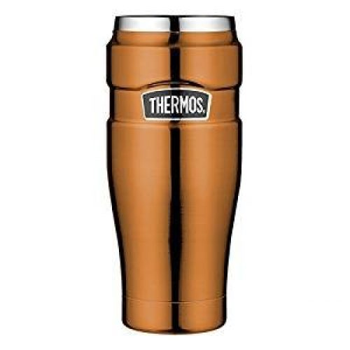 Thermos 4002.215.047 Isolierbecher Stainless King 0, 47 Isolierbecher, Edelstahl, Copper, 8, 4 x 19, 8 cm
