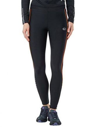 Ultrasport Damen Kompressions Laufhose, schwarz/orange, XS, 1027