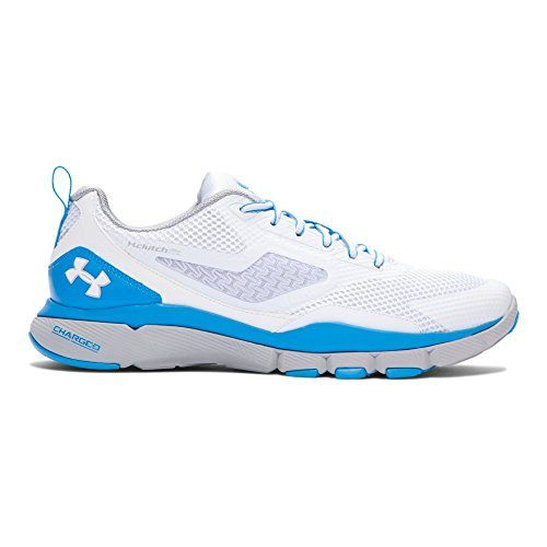 Under Armour , Herren Laufschuhe weiß Weiß/Blau (White/White/Electric Blue)