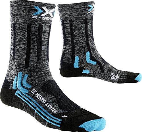 X-Socks Damen Socken TREKKING MERINO LIMITED LADY, Grey/Black, 39/40, X100078